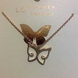 LC Lauren Conrad Butterfly necklace